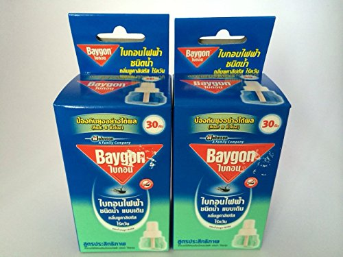 2 X Refillable Protector Raid Mosquito Baygon Electric Liquid Type (Eucalyptus Scent)