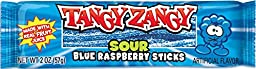 Tangy Zangy Chew on This! Sour Blue Raspberry Sticks, 2 Oz (Pack of 12)