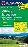 Mittleres Erzgebirge: Wanderkarte mit Kurzführer,  Rad - und Reitwegen. GPS-genau. 1:50000