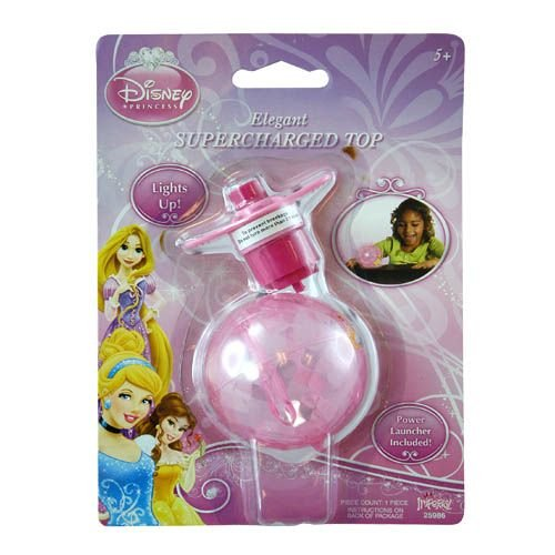 WeGlow International Disney Princess Light Up Supercharged Spinning Top (2 Sets)