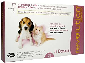 Revolution Puppy/Kitten (Mauve) - 0-5 lbs - 3 count