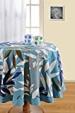 Swayam Libra 4-Seater Cotton Round Table Cover - Turquoise