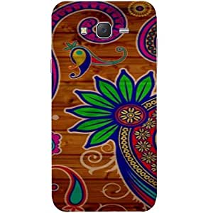 Casotec Pattern Texture Colorful Background Design Hard Back Case Cover for Samsung Galaxy J2