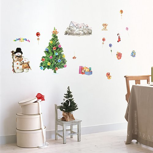 Christmas-1 - Wall Decals Stickers Appliques