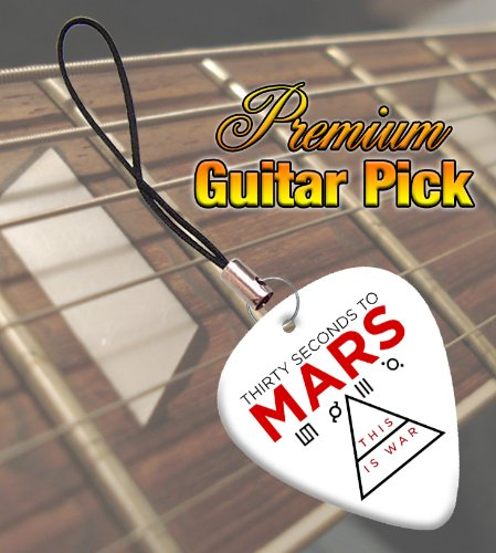 30 Seconds To Mars War Premium Guitar Pick Phone Charm