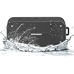 Bluetooth Speakers, Plusinno® Ultra Portable Bluetooth 4.0 Waterproof Wireless Speaker with Integrated Siri/Voice Control, Bluetooth Receiver, Bulid in Microphone and Selfie Function (Gray)