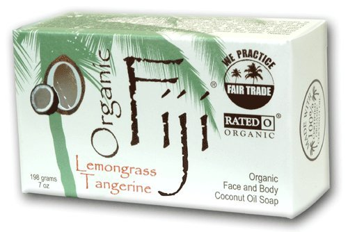 Lemongrass Tangerine Nourishing Soap Cleanser For Face And Body, Certified Organic Coconut Oil And Essential Oil Barsoap