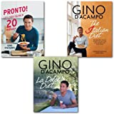 Gino D'Acampo Italian Cookbook Collection Set, ([hardcover]Pronto! Let's cook Italian in 20 minutes, The I Diet: 100 Healthy Italian Recipes to Help You Lose Weight & Love Food and La Dolce Diet: 100 Recipes and Exercises to Help You Lose Weight Gino D'A