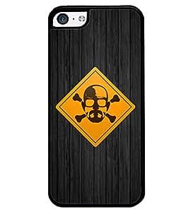 PRINTVISA DENGERAS POINT Premium Metallic Insert Back Case Cover for Apple IPhone 5C - D5680