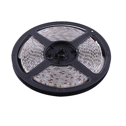 Ggl Waterproof Superbright 3528 Smd 300-Led Pure White Flexible Pcb Led Strip Light Flash Lamp Ribbon With Self-Adhesive Tape Backing 16.4Ft 5M Per Reel - Ideal For Various Residential Industrial Commercial Decorative Lighting Applications