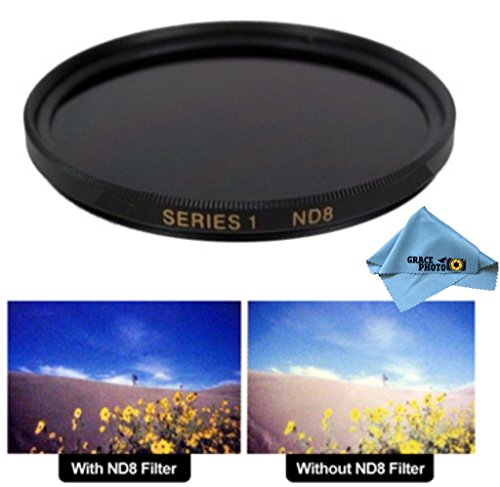 43mm High Quality ND8 Multi-Coated Neutral Density Filter for Canon VIXIA HV40 + Grace Photo Microfiber Cleaning Cloth (Furnace Cloth compare prices)