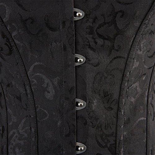 Women Lace Boned Corset Lingerie for Waist training Bustier Clubwear Plus Size 2