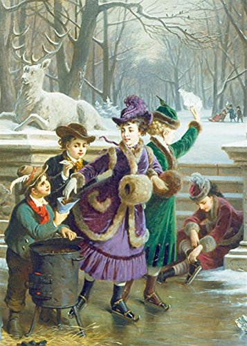 Skating Joy Christmas Cards By Victorian Trading