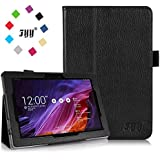 [Corner Protection] ASUS Transformer Pad TF 103C Case Cover, Fyy® Premium Soft Folio Leather Case for ASUS Transformer Pad TF 103C Black (With Auto Wake/Sleep Feature)