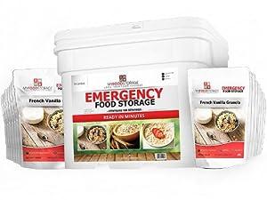 MyFoodStorage 120 Serving Breakfast Bucket - BEST Long Term Bulk Food Storage by Freeze Dried Foods - MyFoodStorage