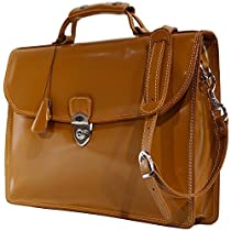 Floto Milano Limited Leather Briefcase in Tan