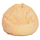 Majestic Home Goods Towers Bean Bag, Small, Citrus