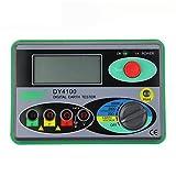 ELEOPTION DY4100 Digital Earth Ground Resistance Tester Meter Digital Earth Tester 0/20/200/2000O Battery Powered (Color: Green)