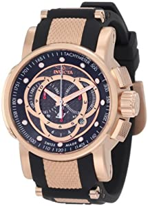 Invicta Men's 0900 S1 Chronograph Black Dial Black Polyurethane Watch by Invicta