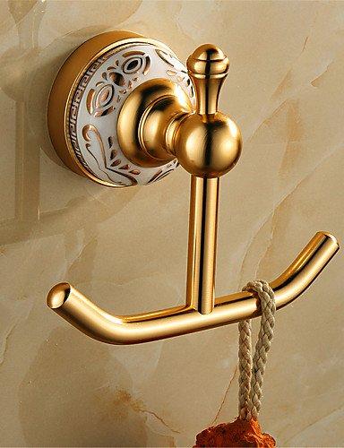 E & A/Antik Aluminium Wand montiert Badezimmer Bademantel Haken gold