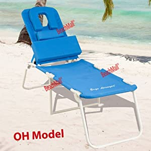 Ergo Lounger OH Therapeutic Face Down Lounger, Aluminum