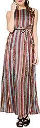 Folklore Women's A-Line Dress (FOJ6000166_Turquoise_Medium)