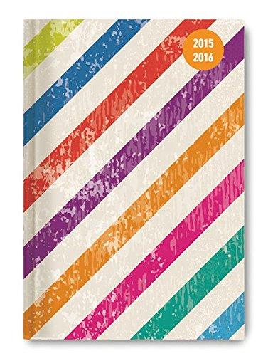 Alpha Edition 160680 Colour Stripes Diario Scuola Collegetimer A6 20152016 1 Settimana su 2 Pagine PDF