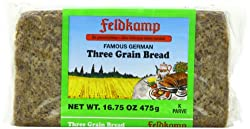 Feldkamp Three-Grain Bread , 16.75-Ounce Vacuum Packs (Pack of 12)