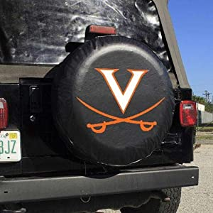 Virginia Cavaliers NCAA Spare Tire Cover (Black) by JR Sports