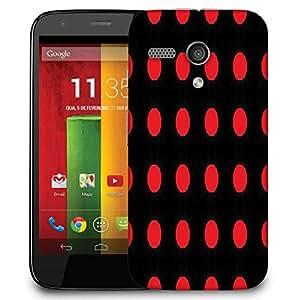 Snoogg Red Spots Black Pattern Designer Protective Phone Back Case Cover For Motorola G / Moto G