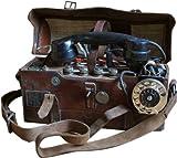 デンマーク軍 フィールドテレフォン 電話機 ミリタリー / アンティークな雰囲気のインテリアのディスプレイに。【中古】