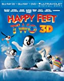 Happy Feet Two (Blu-ray 3D + Blu-ray + DVD + UV Copy) [2012] [Region Free]