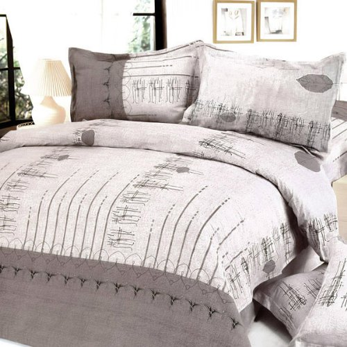 Blancho Bedding - [Beige Autumn] 100% Cotton 3PC Comforter Cover/Duvet Cover Combo (Twin Size)