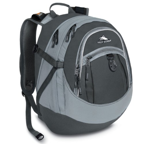 High Sierra Fat Boy Backpack, Charcoal Silver/Pattern, 19.5x13x7-Inch