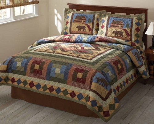 Hunting Cabin King Quilt