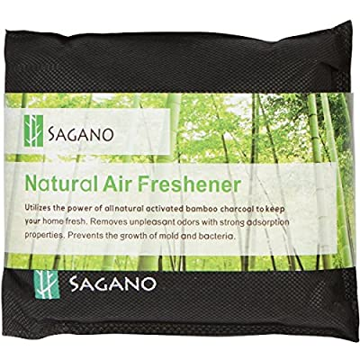 Best Activated Charcoal Odor Eliminator Bag By Sagano - Utilizes Powerful and Natural Activated Charcoal to Keep Your Home Fresh and Healthy - Car Air Freshener and Pet Odor Remover - 200 Gram Bag