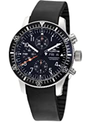 Special Price Fortis Men's 638.10.11 K B-42 Official Cosmonauts Black Automatic Chronograph Date Rubber Watch USA Sale