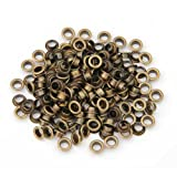 Lots Pieces Vintage Brass Metal Eyelet Grommet for Leather Craft 0.39""