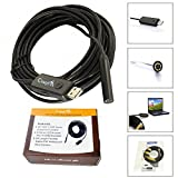 CrazyFire® 2.0MP HD 720P Coms 6 LEDs USB Endoscope 8.0mm Dia...