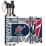 NBA Washington Wizards Steel Water Bottle with Metallic Graphics, 26 oz., Silver