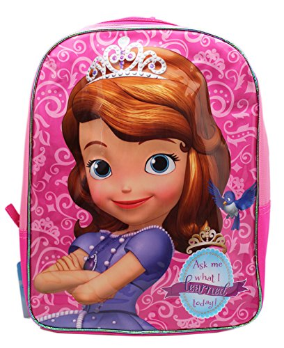 Disney Little Girls Princess Sofia 15.5-inch Kids Backpack - 1