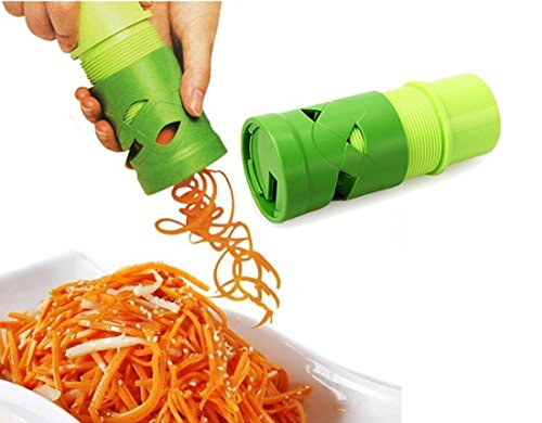Vegetable Slicer,ONEONEY Home Essencial Golden Quality Kitchen Basics Spiral Cutter Spiralizer Twister Grater--Suit For Carrot Radish Cucumber Onion etc (Wire Twister Machine compare prices)