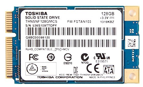 東芝 Toshiba HG6 THNSNF128GMCS 128GB mSATA SATA? 6Gb/s MLC SSD -