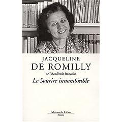 Le sourire innombrable - Jacqueline de Romilly