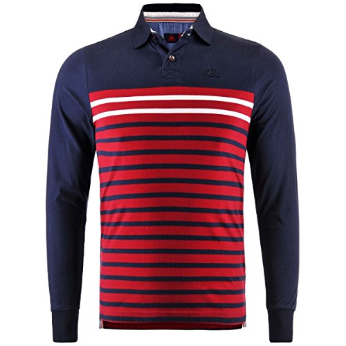Polo Shirts - Chatam - Blue Navy-Red Chily - XXL