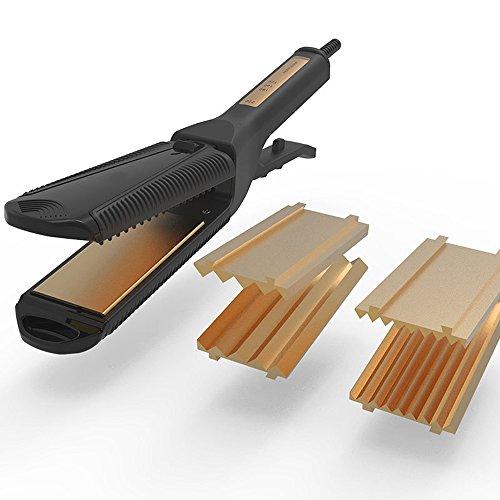 Alta calidad negro salón termostato eléctrico tablilla ThePortable multifunción no dañar la plancha de pelo cerámica