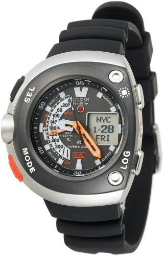 Citizen Men's JV0030-01E Eco-Drive 20th Anniversary Aqualand Black Imperial Dive Watch