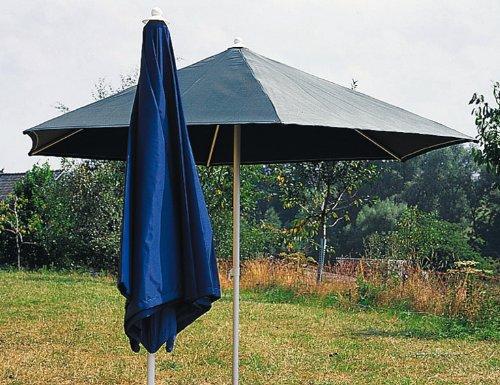 Sonntex Sonnenschirm Art, Ø 286 cm, 6-teilig Polyester, Gestell champagner, Bezug mocca günstig online kaufen