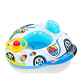 Foocc Inflatable Baby Child Toddler Infant Swimming Seat Float Boat Ring Raft Chair Pool Toy (Speaker Car)