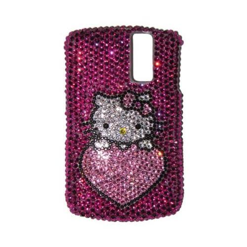 Hello Kitty Heart Swarovski BlackBerry Curve 8300 Bling